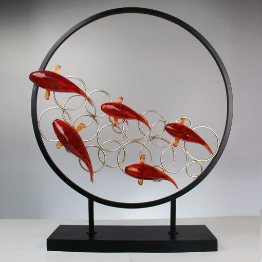 Phù điêu đàn cá vàng mã BB74