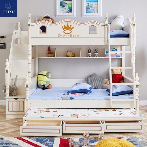 Giường tầng trẻ em màu trắng