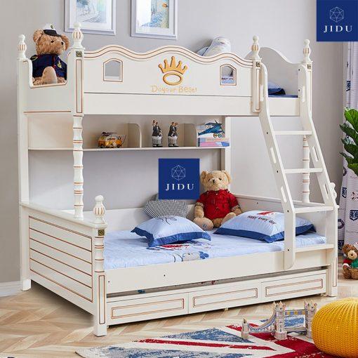 Giường tầng trẻ em màu trắng 3